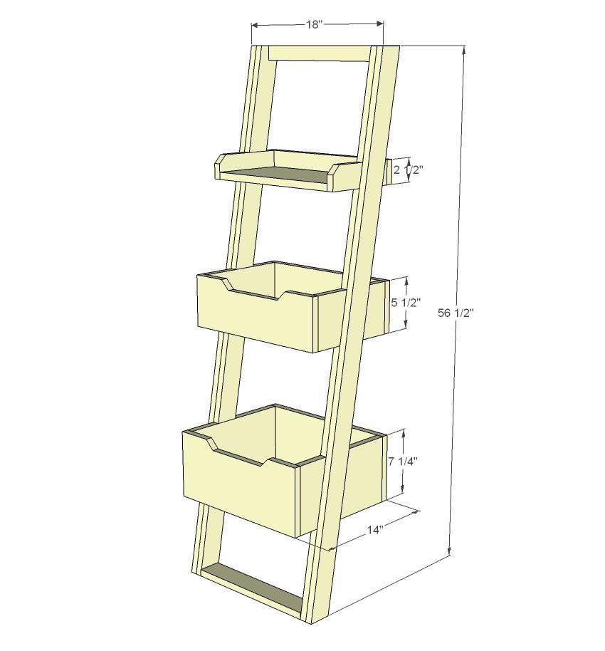 Build A Little Sloan Leaning Bookshelf