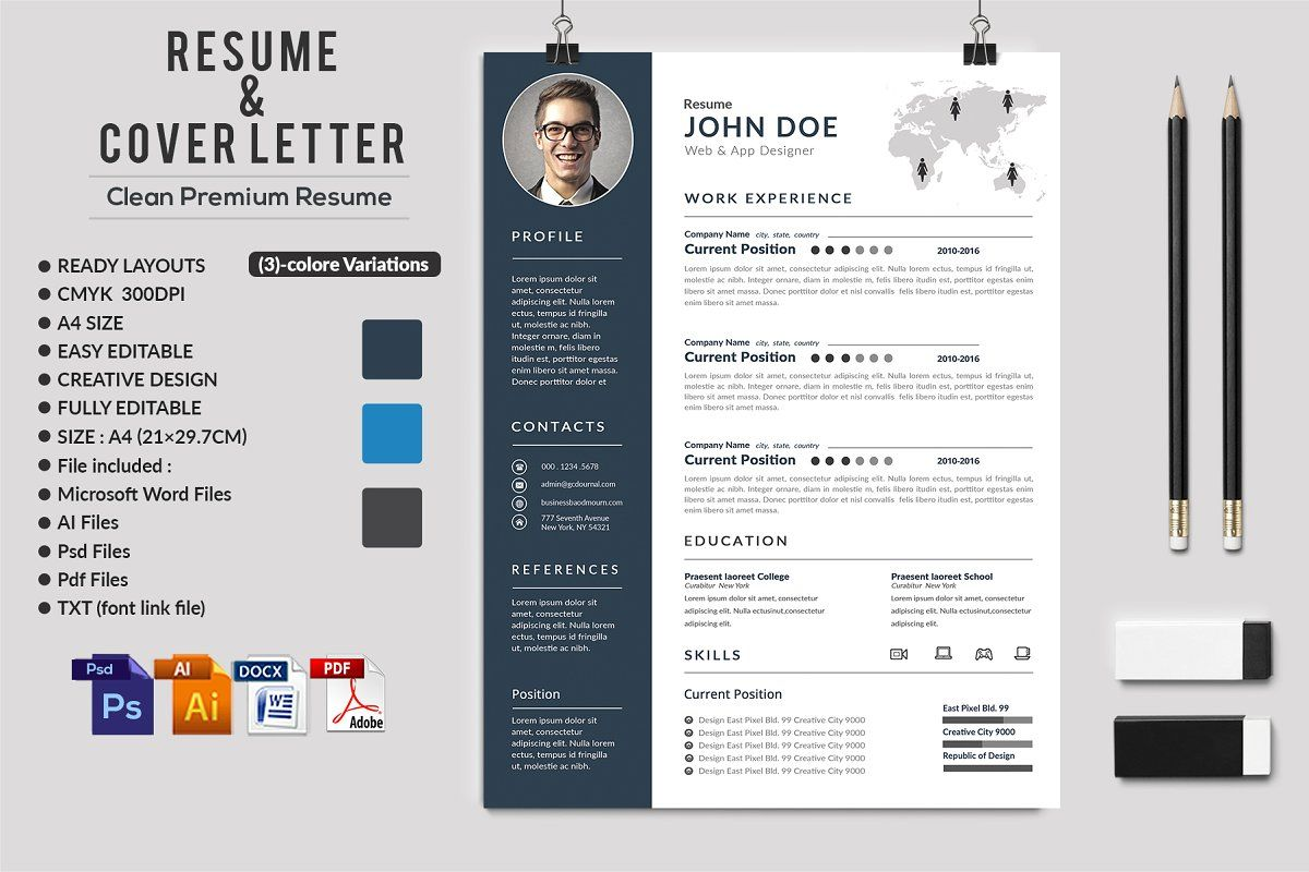 2piece elegant resume set sponsored modecolor