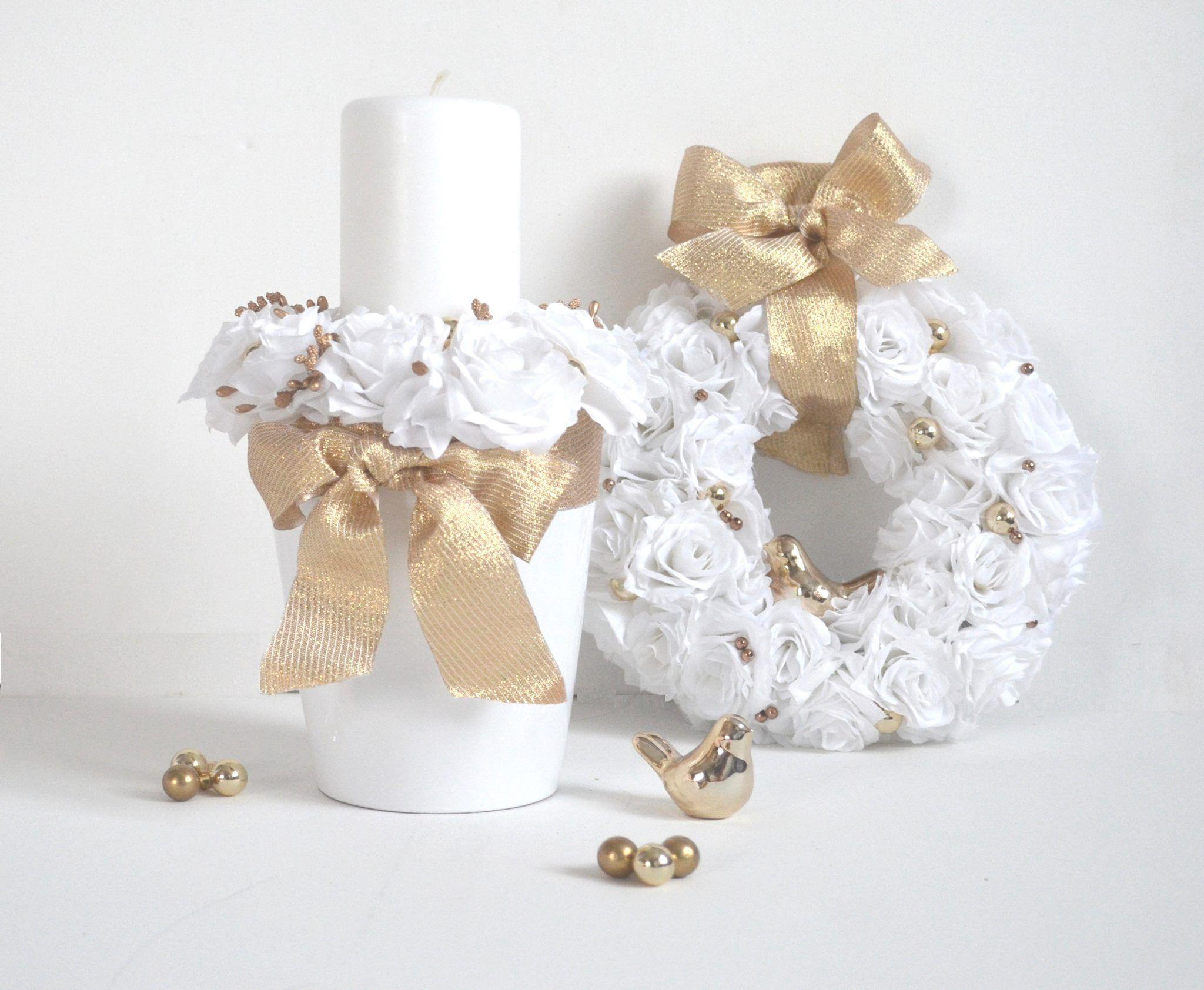 Boze Narodzenie Swieta Christmas Wianek Wreath Choinka Christmas Decoration Swieca Doniczka Kwiat Christmas Decora Quilling Christmas White Ornaments