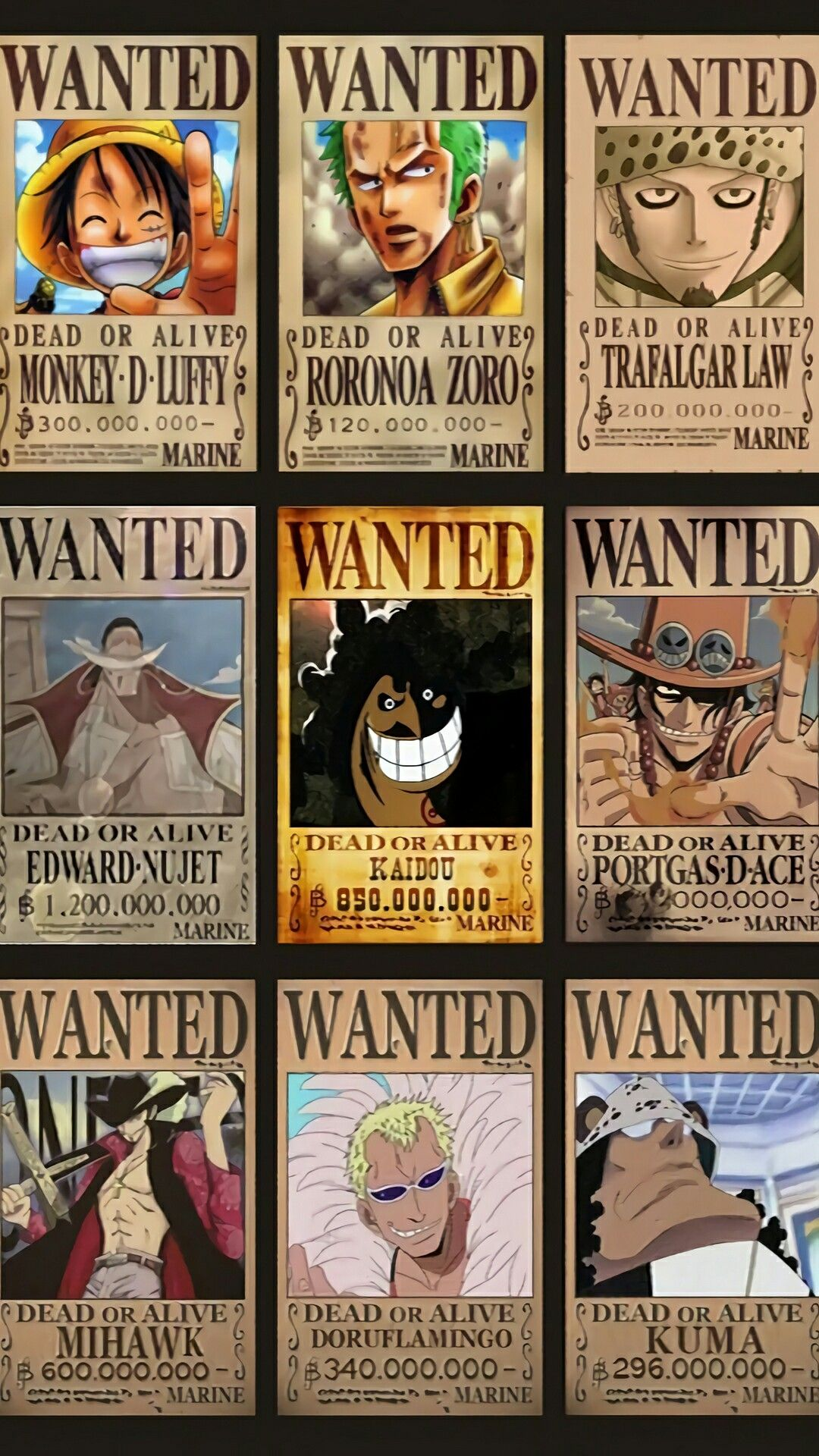 Are these the real bounty one piece wanted posters?   One ...  One