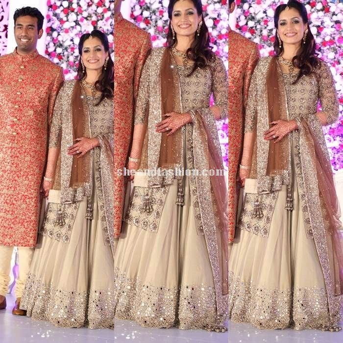 Celebrity and wedding guest dress in sunil and leela wedding ...