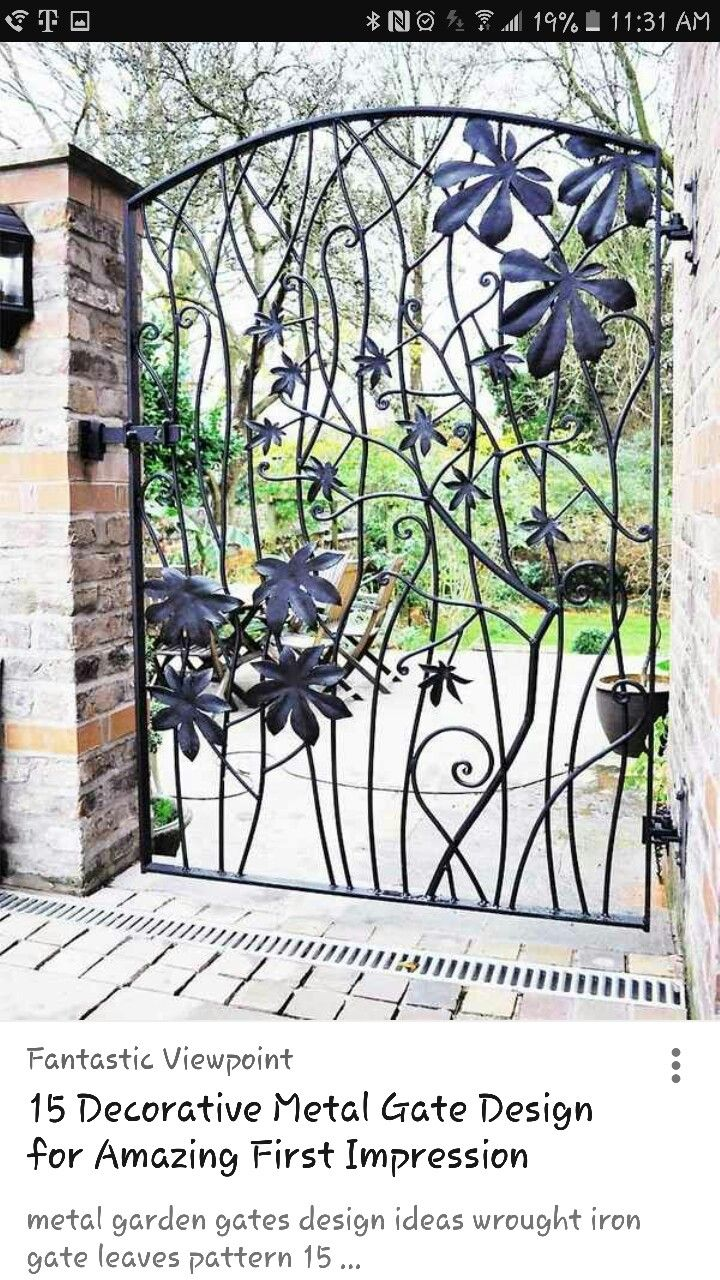 Metal Garden Gates U2013 Wrought Iron Garden Gates Or Modern Designs?