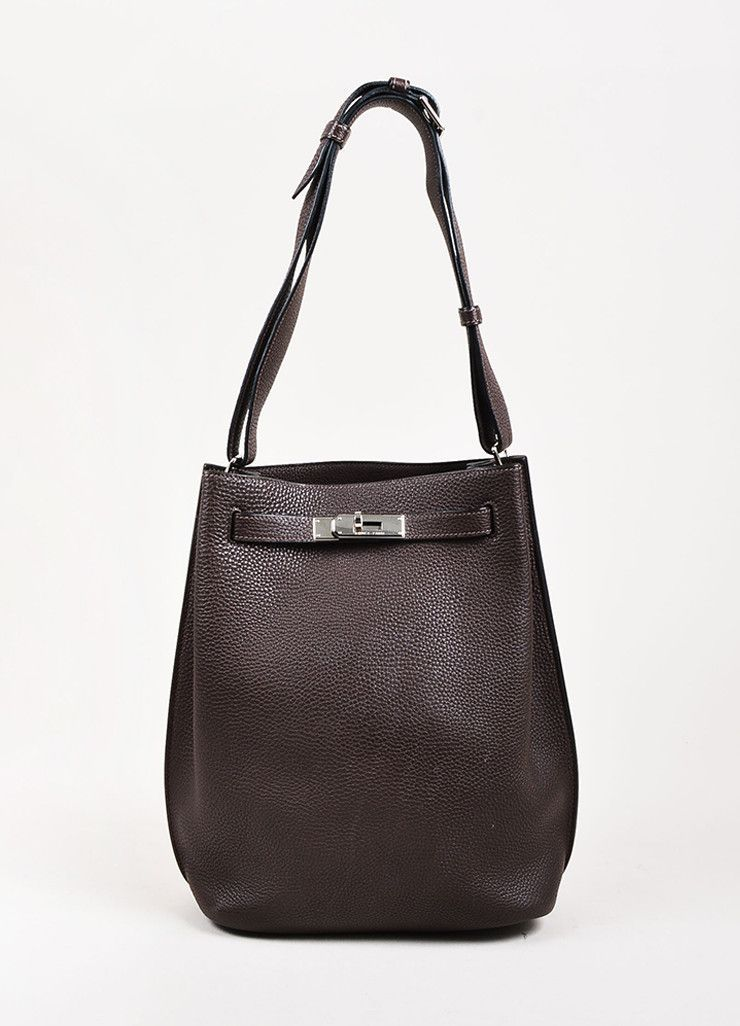 6749fffbae4e Hermes Chocolate Brown Togo Leather