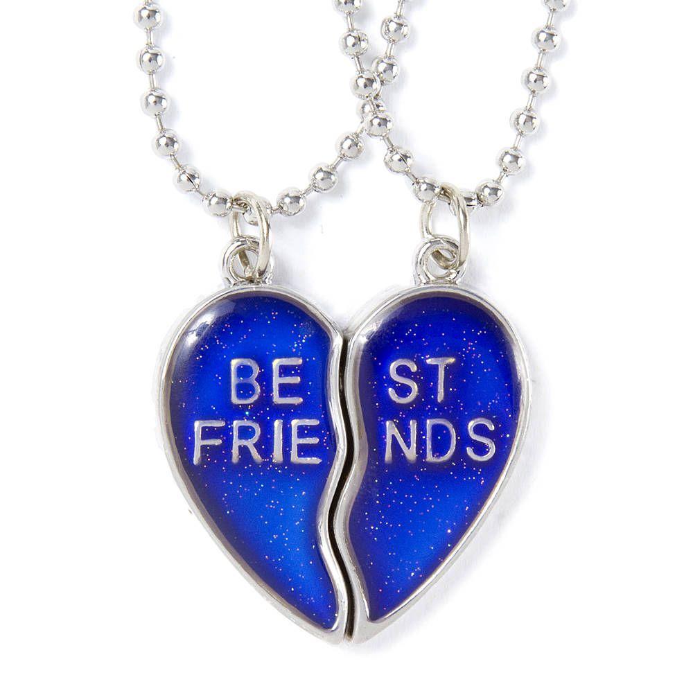 Best Friends Mood Heart Pendant Necklaces 2 Pack Friend Necklaces Friend Jewelry Best Friend Jewelry