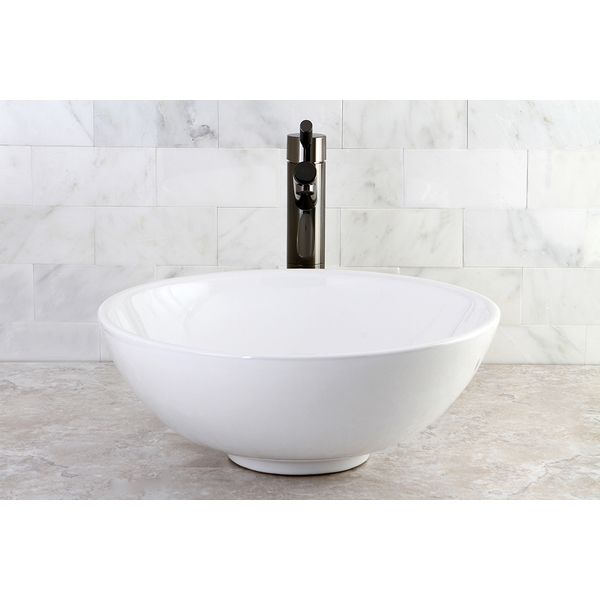 Bathroom Sinks Overstock round vitreous china above-counter vessel sink - overstock
