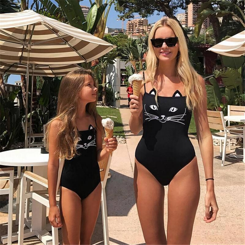 a1c3503d0a2b2 Mother Daughter Catkini Swimsuit – Slim Wallet Company