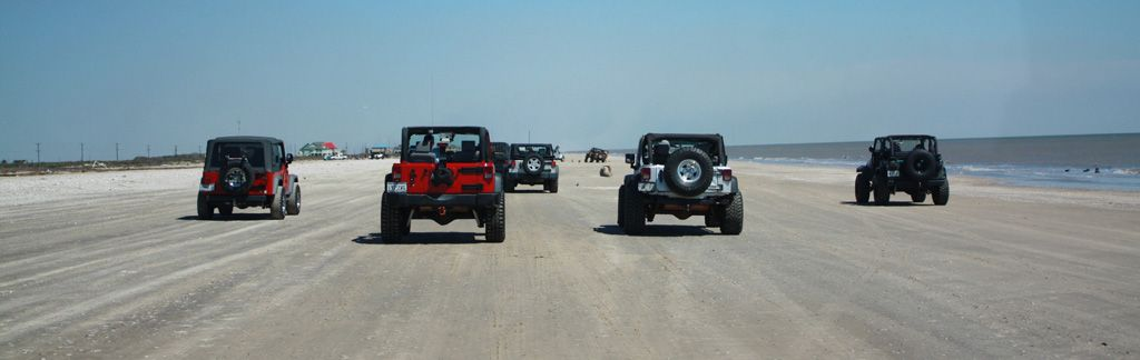 Jeeps On The Beach