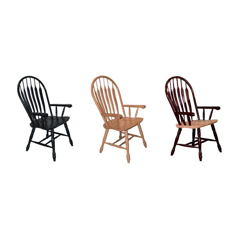 Sunset Trading Comfort Back Arm Chair - With casual charm combined with comfortable, regal side arms, the Sunset Trading Comfort Back Arm Chair has a timeless slat back and traditional style...