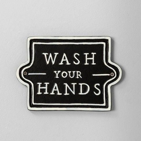 Wall Sign Wash Your Hands Black Hearth Hand Target