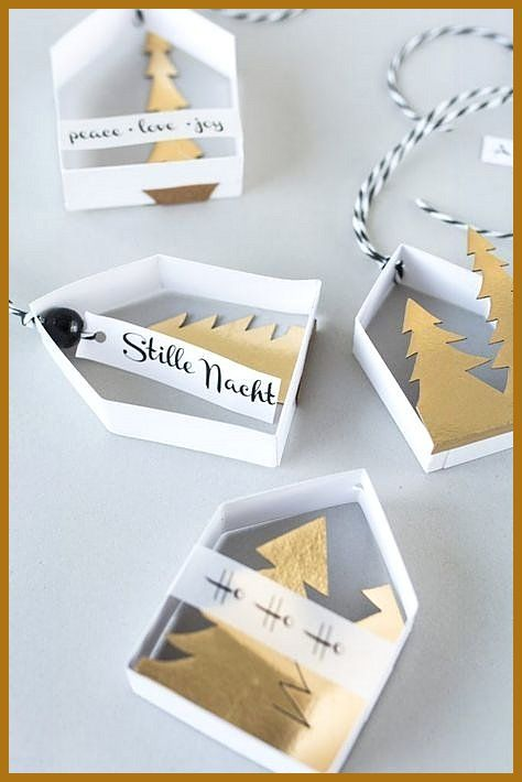 Amazing Make delicate paper homes as tree decorations your self Labeled paper homes as tree decoration