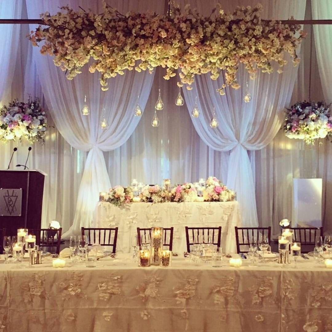Luxury Wedding Reception With A Perfect And Awesome: Elegant White And Gold Reception Decor With Candles By