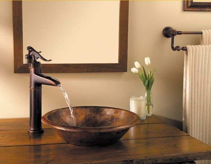Pfister Gt40 Yp0 Ashfield Waterfall Bathroom Vessel Faucet With