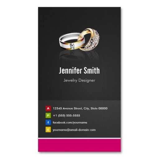 Ring Design Jeweler Jeweller Jewelry Jewellery Business Card - Jewelry business card templates