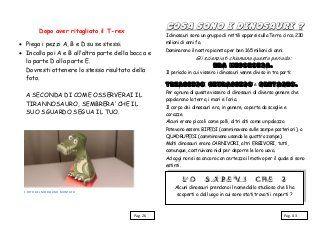 Schede didattiche sui dinosauri. Libro da costruire con giochi, notiz…