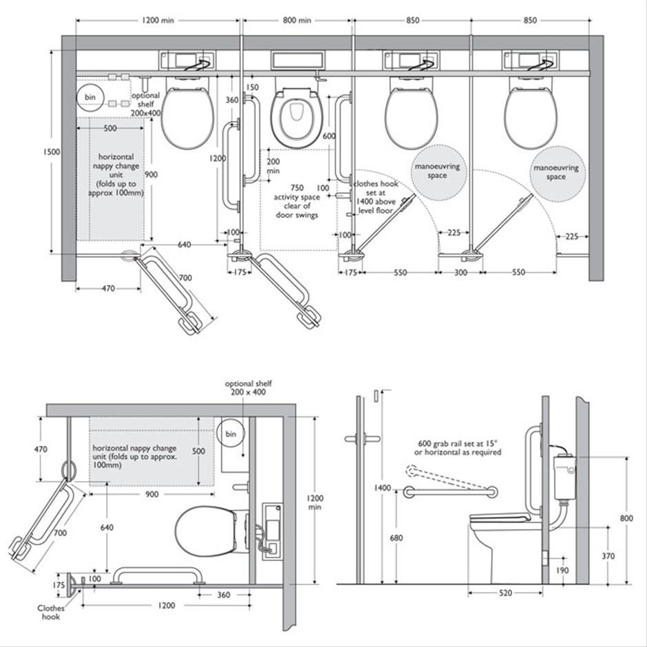 Bathroom Partitions Dimensions Toilet Design Toilet Plan