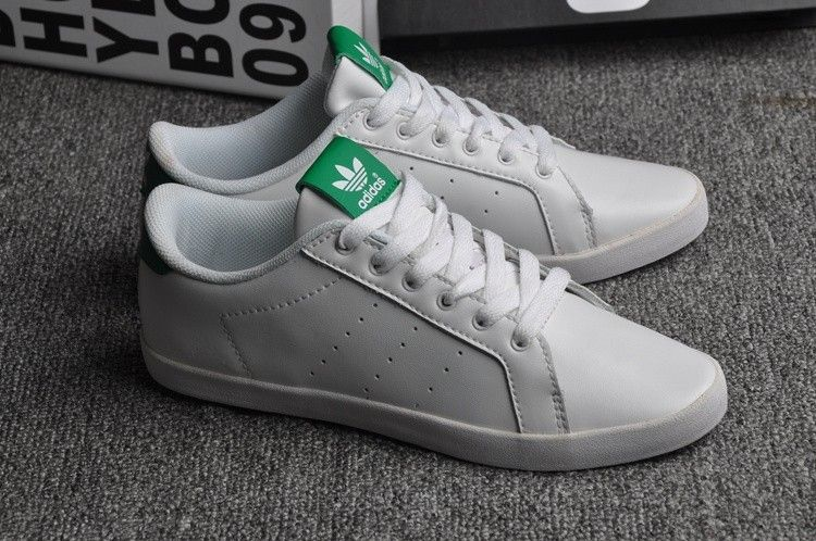 Adidas Stan Smith Vendre Réclame Femme Adidas Stan Smith Blanche Vert Chaussures 2016