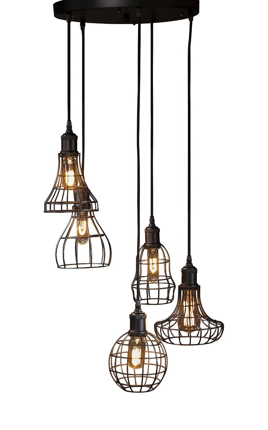 Gallery Direct 42-inch Rostock Cluster Light: Amazon.co.uk: Lighting ...