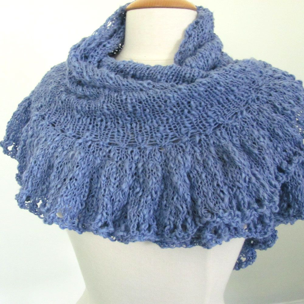 Knitting Shawl : How to knit a ruffle border on your triangle shawl