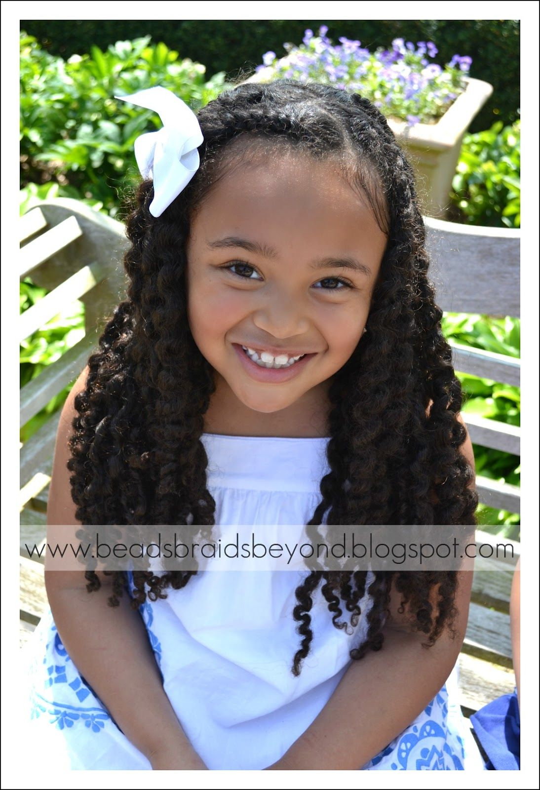 half up hairstyles for mixed people | little girls natural