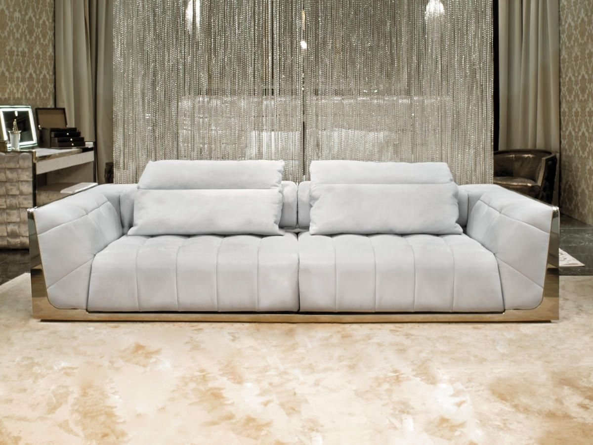 Mirrored sofa white pillow top  Luxury Furniture Home  Decor  House Ideas
