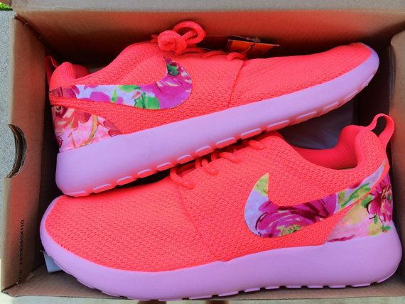the latest e1ae7 e7a5d Custom Women s Nike Roshe Run Floral Swoosh by ConverseCustomized