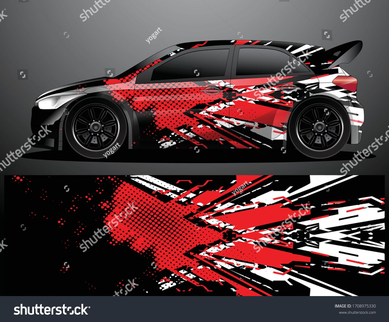 Rally Car Decal Grafik Wrap Vektorillustration Stock Vektorgrafik Lizenzfrei 1708975330 In 2020 Vektorgrafik Fahrzeugaufkleber Abstrakte Hintergrunde