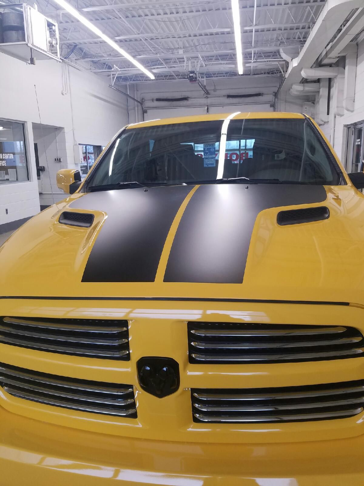 Break Up All That Color Telegraph Chrysler Flat Black Hood