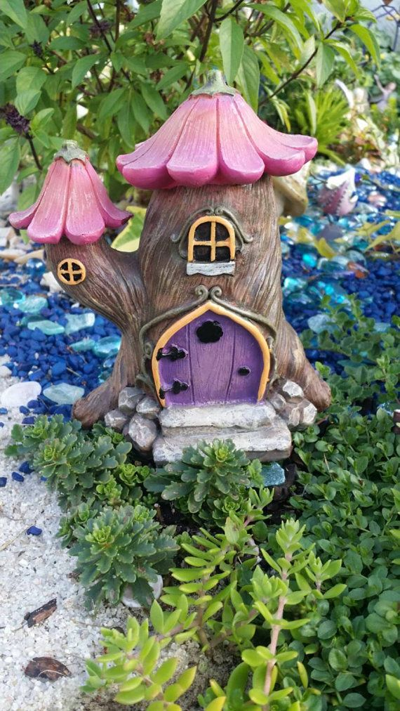 Fairy Garden House Flower House Fairy Purple by MagikalFairyland ...