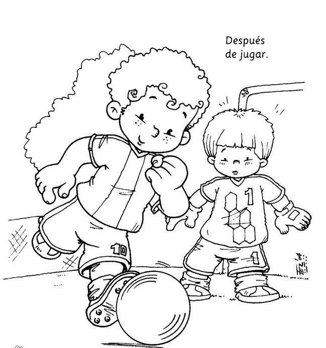 Dibujos para colorear para enseñar higiene personal en los niños ...
