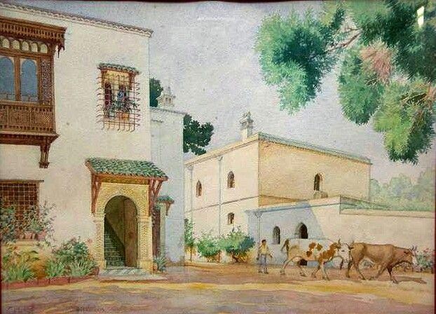 Algerie Peintre Francais Charles Pichon 1888 1957 Technique