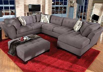 Cindy Crawford Home Metropolis Slate Right 4 Pc Livingroom - New couch for the living room : cindy crawford metropolis sectional - Sectionals, Sofas & Couches