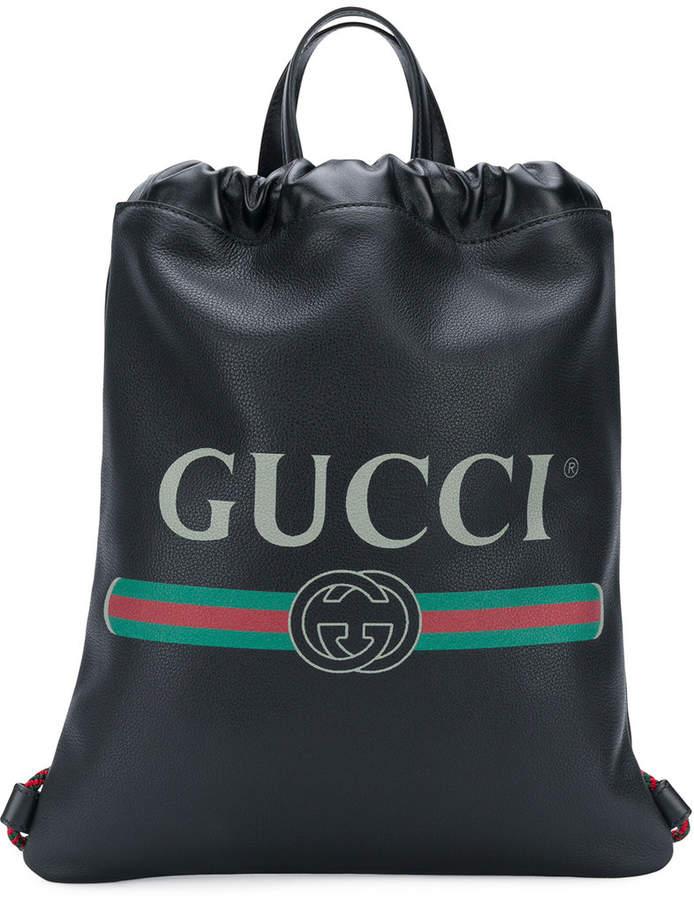 fa55ac18680b Gucci Logo Drawstring Backpack | Products