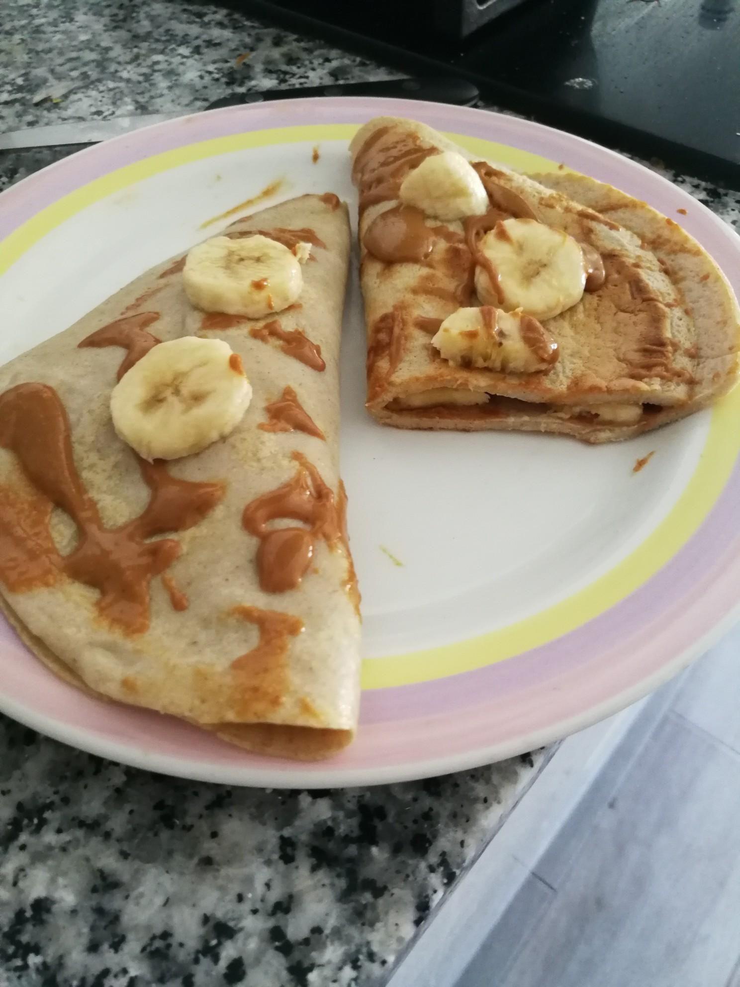 Desayuno Fitness Tortitas De Avena Sabor Cookie Y Claras De Huevo Con Platano Y Crema De Cacah Desayuno Recetas Saludables Desayuno Crema De Cacahuete Recetas