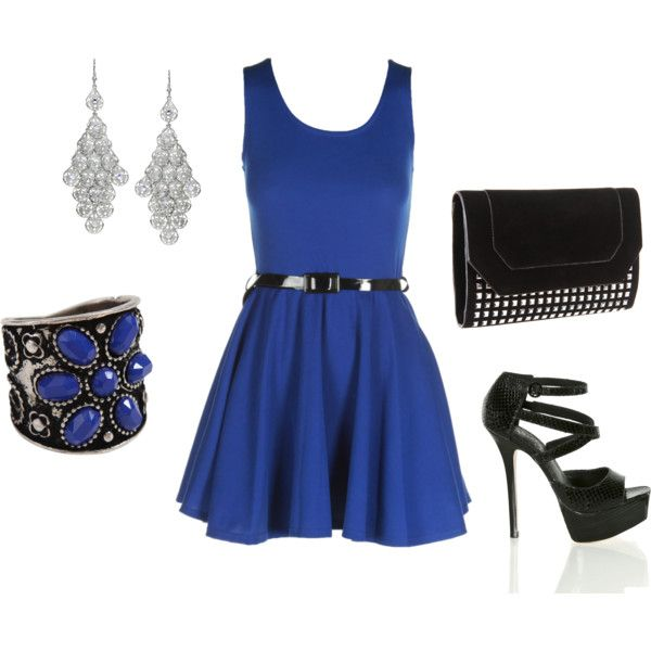 Cute Blue Dress!, created by catherine-coughlin-beach.polyvore.com