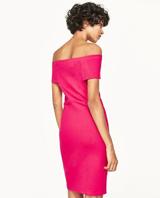c52c37b8 DRESS WITH BARDOT NECKLINE from Zara Off The Shoulder, Shoulder Dress, Zara,  Bardot