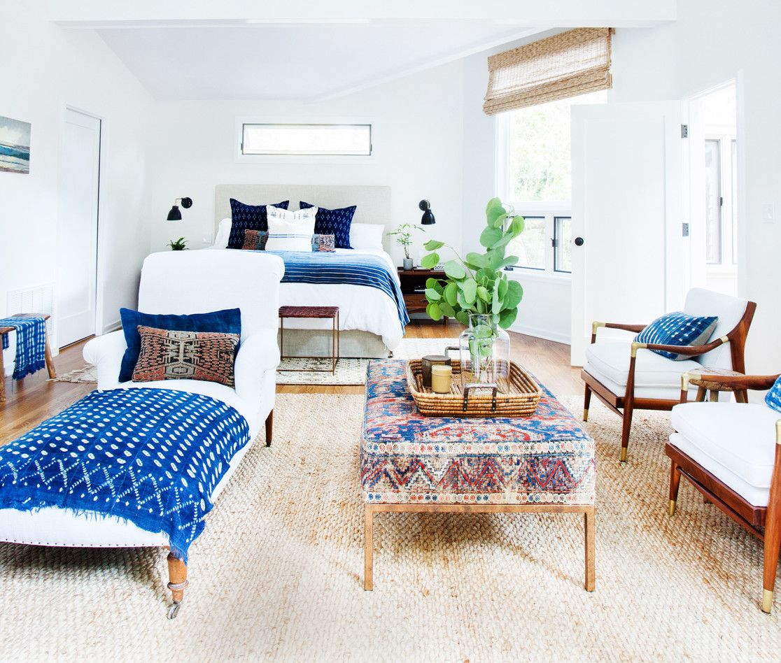 ways to style navy at home parachutes navy and neutral