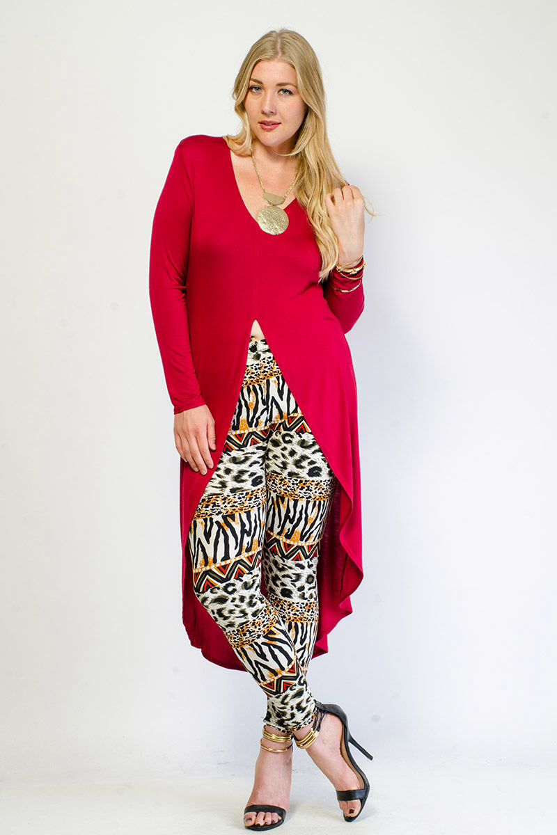 2ab5db07ca2 Gstagelove.com red maxi top with front split- plus size  16.99 ...