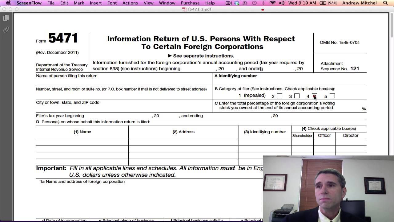 Irs Form 5471 Instructions Gallery - free form design examples