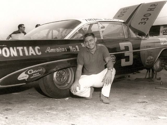 Fireball Roberts Takes A Break From Working 1959 Nascar