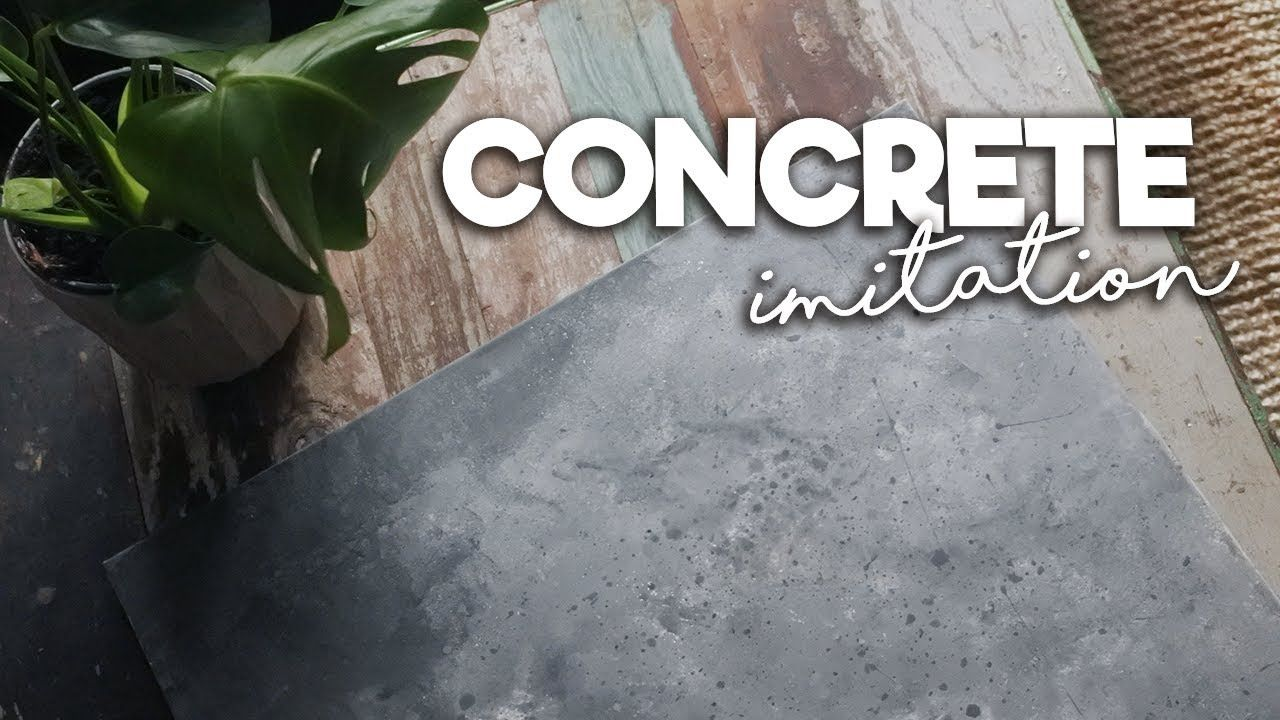 Concrete Look With Chalk Paint Betong Look Med Chalk Paint