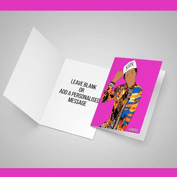 Bruno Mars 7x5 Greeting Card