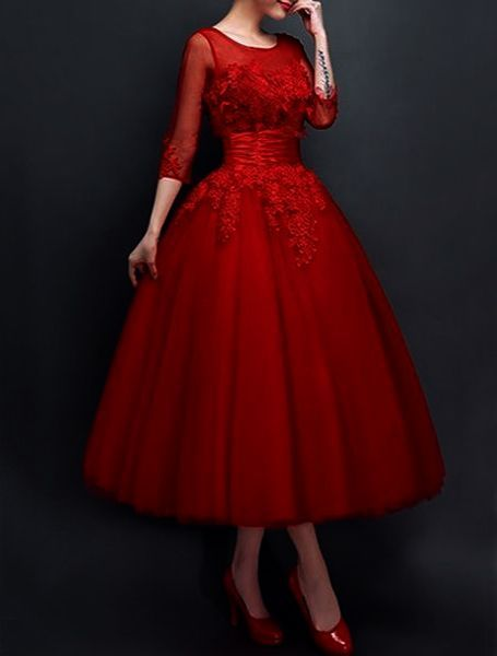 Vintage Dress Boutique 50s Inspired Evening Dress Elegant Red Dress Gowns Red Dress