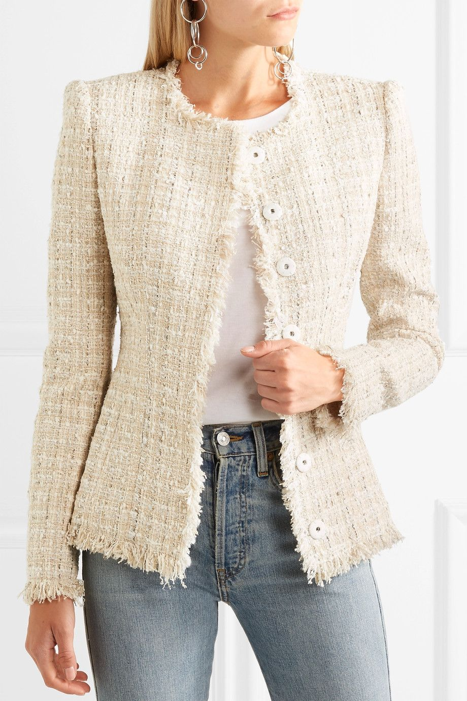 Alexander McQueen | Metallic tweed jacket | NET-A-PORTER.COM