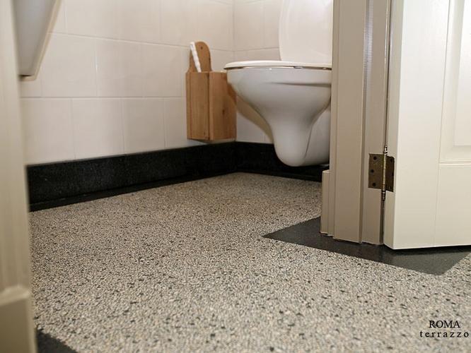 Granieten Vloer Badkamer : Terrazzo granieten vloer kleine douche small shower