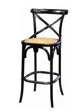 meuble tabouret de bar bistrot noir mobilier chaises signature autour de la table. Black Bedroom Furniture Sets. Home Design Ideas