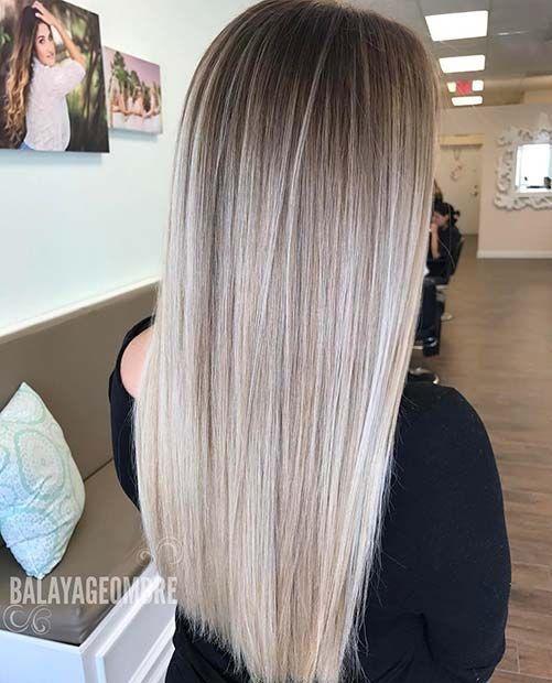 21 Chic Blonde Balayage sucht nach Herbst und Winter #blondehair