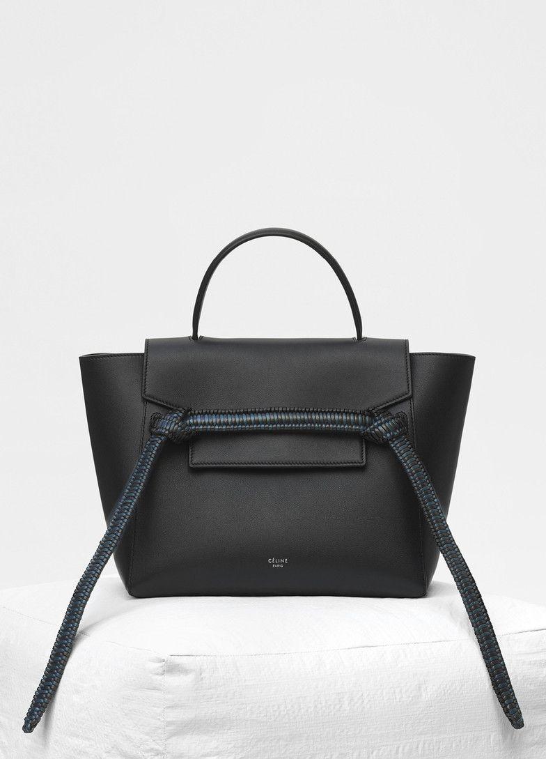 cd39c43e8e Micro Belt bag in smooth calfskin with bicolour braid - Céline