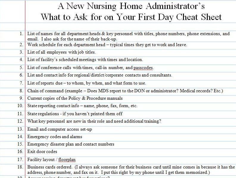 new home orientation checklist