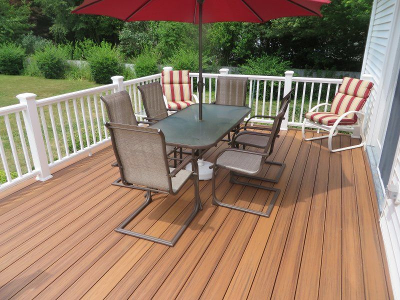trex deck with azek railing in mystic ct homepro trex on steps in discovering the right covered deck ideas id=88547