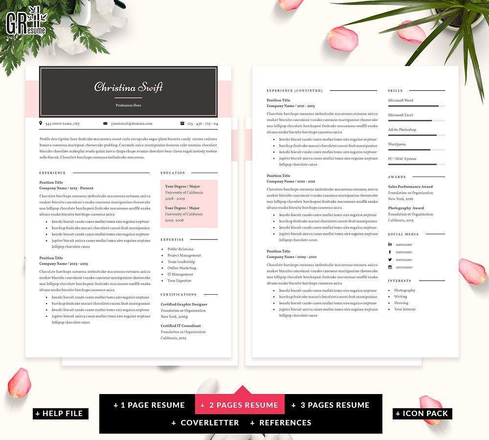 Creative Resume Template originalcolorscreateresume